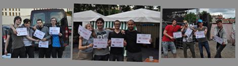 "Bands at LUSTGARTEN 2014 for visa free!Bands at LUSTGARTEN 2014 for visa free!Группы на LUSTGARTEN 2014 поддержали движение ""Европа без визы»!"