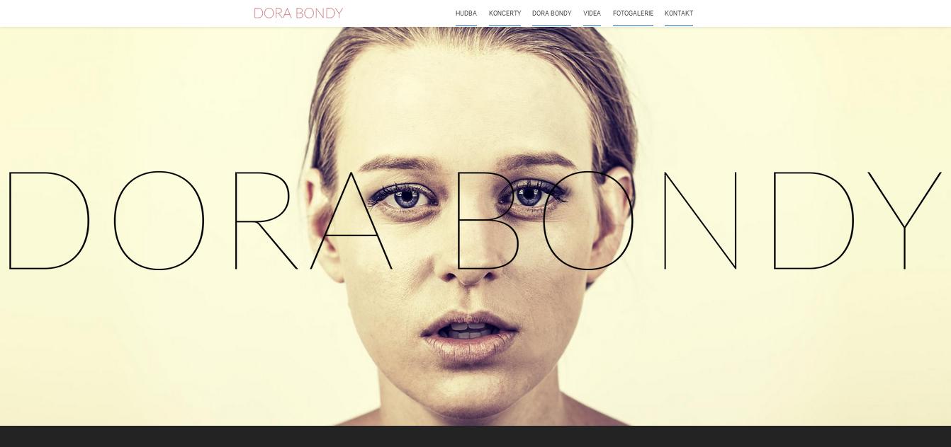 screenshot_website Dora Bondy