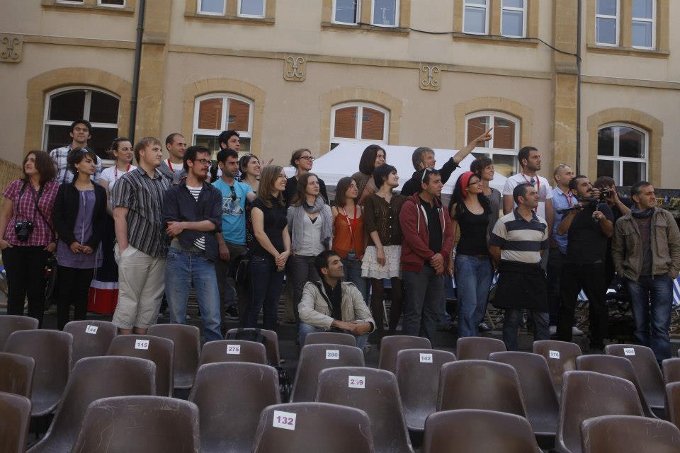 Die Teilnehmenden der Jugendbegegnung
