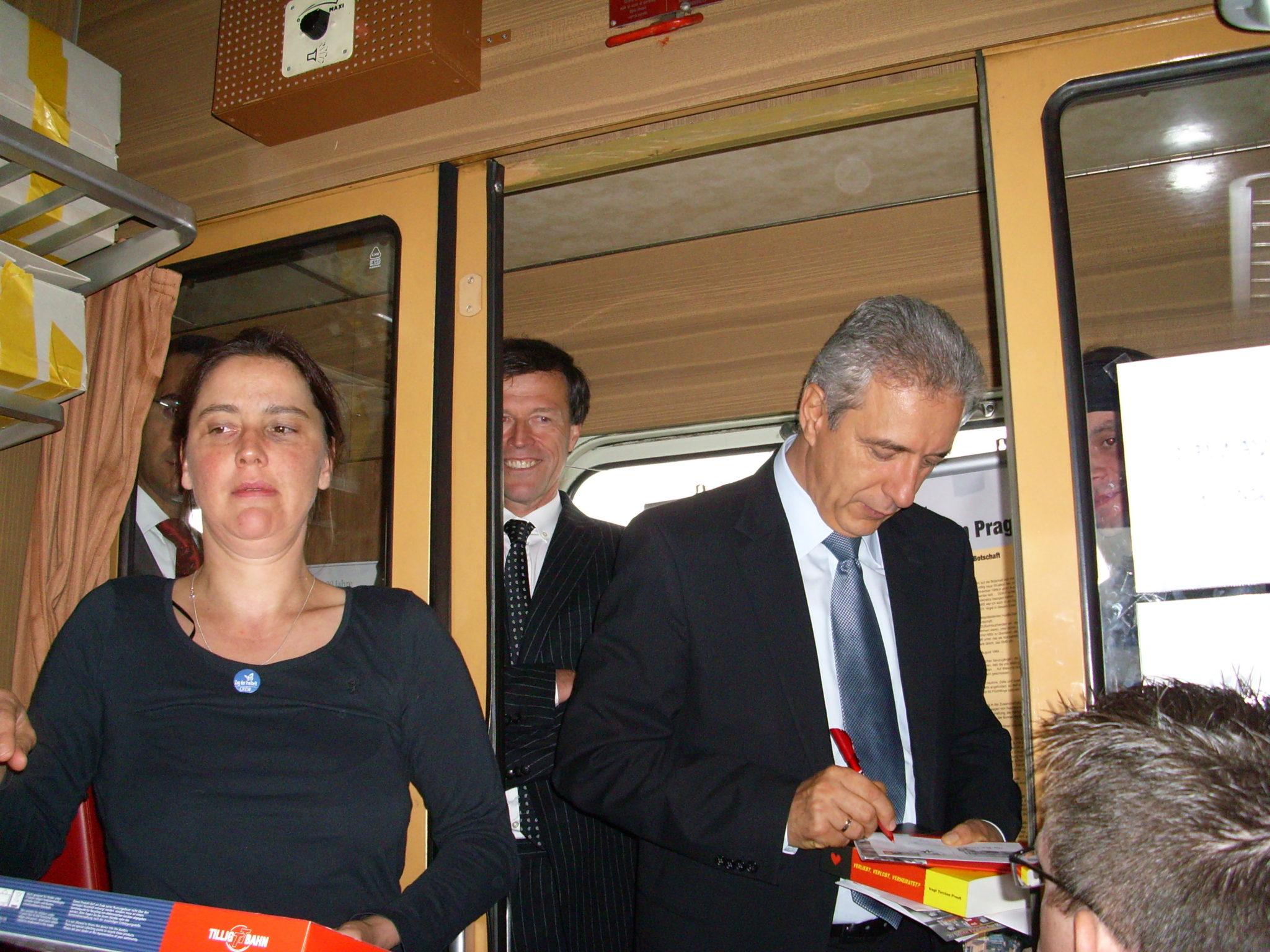 Zug der Freiheit Tillich im Zug